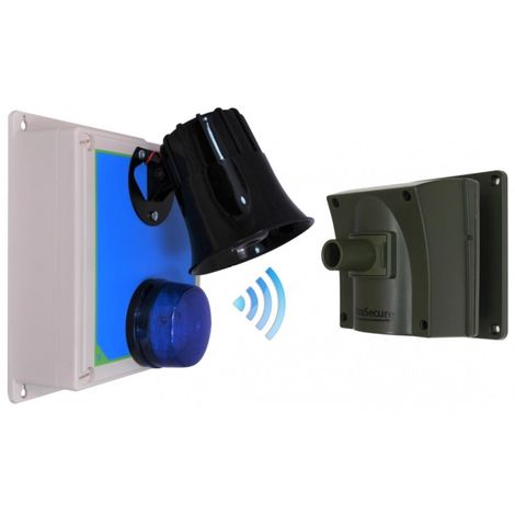 Protect 800 Driveway Alarm (with multiple Lens Caps) & Outdoor Loud Siren & Flashing LED Receiver [006-3290]