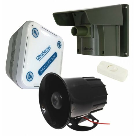 Protect 800 Driveway Alert System with Multiple Lens Caps & a Wired Siren [004-4090]