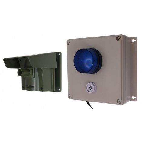 Protect 800 Driveway Alert with Outdoor Adjustable Siren & Flashing LED Receiver & New Pencil Beam Lens Cap [004-4190]