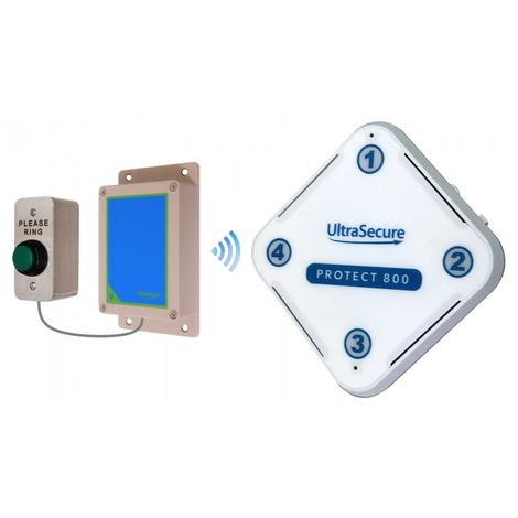 Protect 800 Wireless (800 metre) Doorbell with H/D 'Please Ring' Push Button & Std Receiver [006-3220]