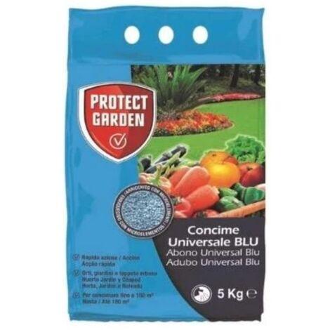 PROTECT GARDEN Abono Universal BLU Fertilizante Azul Granulado de Acción Rápida, Huerto, Jardín y Césped, 5 kg