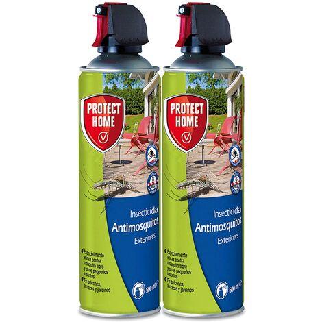Protect Home - Antimosquitos Exteriores, Insecticida Persistente para Balcones , Terrazas y Jardines , Ideal para Mosquitos Tigre y Moscas , 500 ml (Pack de 2)
