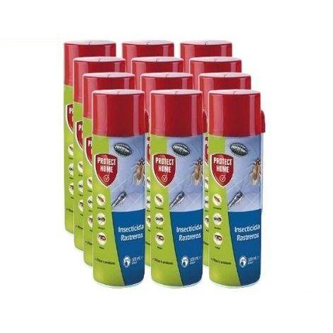 Protect Home Insecticida Blattanex, Uso Doméstico de Acción Inmediata contra Cucarachas, Hormigas E Insectos Rastreros Domésticos - Caja Completa 12x Spray 500ml