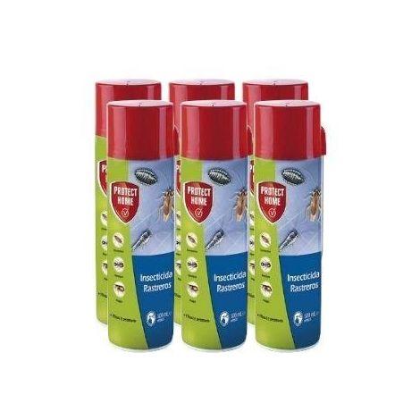 Protect Home Insecticida Blattanex, Uso Doméstico de Acción Inmediata contra Cucarachas, Hormigas E Insectos Rastreros Domésticos - Pack ahorro 6x Spray 500ml
