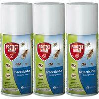 Protect Home - Insecticida Descarga Total, automatico, antiguo Solfac, 150ml (Pack de 3)