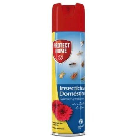 PROTECT HOME Insecticida Doméstico para el Control de Insectos Voladores y Rastreros, con Extracto de Flores, 400 ml