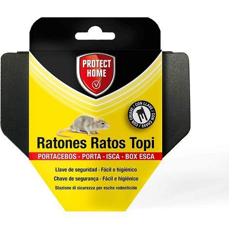 PROTECT HOME Portacebos para Ratones con Llave de Seguridad, Facil e Higiénico, Control de Roedores, Ratones S