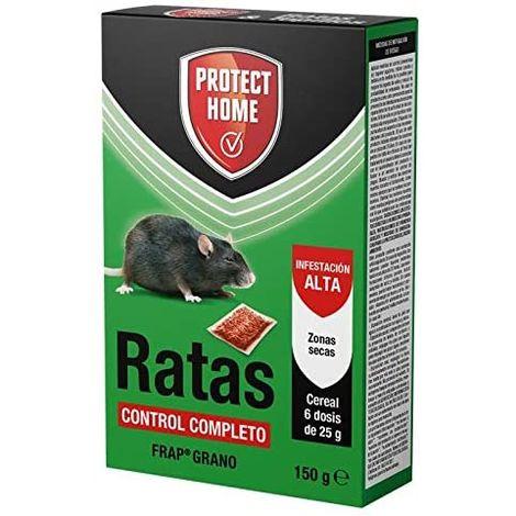 Protect Home Ratas Frap Cereales, Zonas Secas, 6 x 25 gr (150 gr)