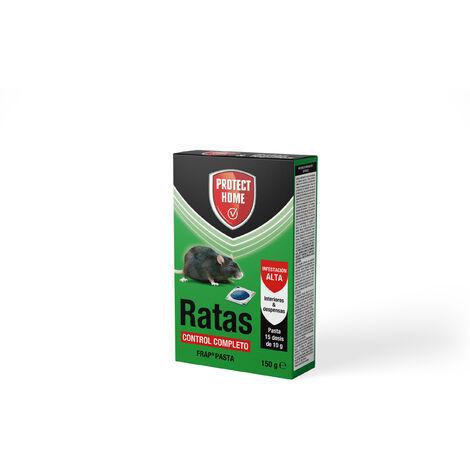 Protect Home - Raticida en pasta para Ratas , Infestación Alta, Control Completo, 15 dosis de 10gr