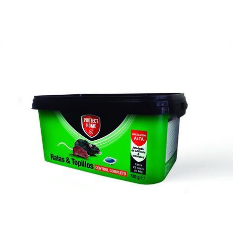 Protect Home Rodicum ratas y topillos formato pasta 72X10gr Control completo para una infestación alta