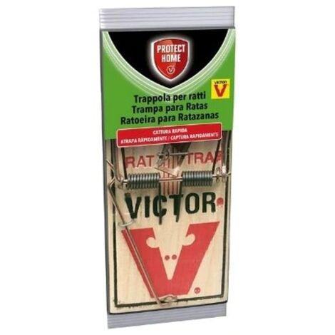 PROTECT HOME Trampa Clásica Ratones con Aroma a Queso, Madera y Acero, efectiva y Limpia, Control de roedores, 1 ud