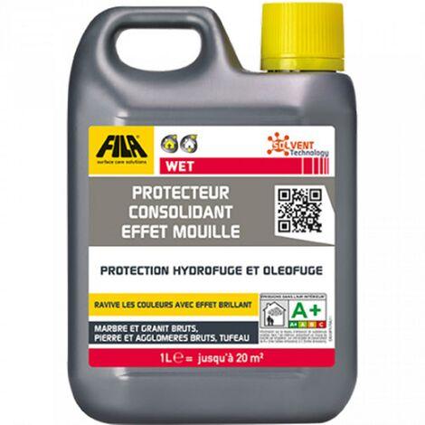 Protecteur consolidant effet mouillé à base de solvant FILAWET - Le bidon de 1 Litre