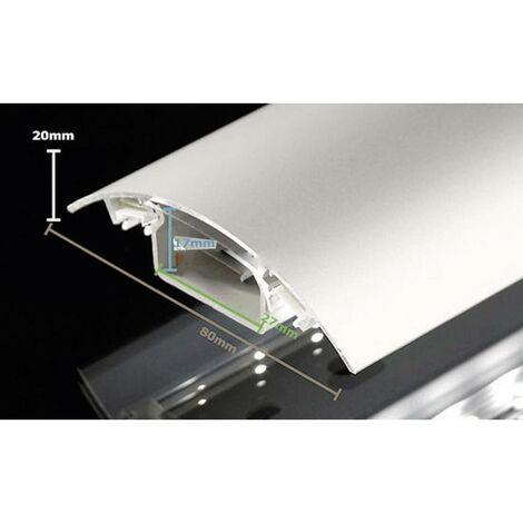Protecteur de câble (L x l x h) 1000 x 80 x 20 mm acier inoxydable (brossé) Contenu: 1 pc(s)