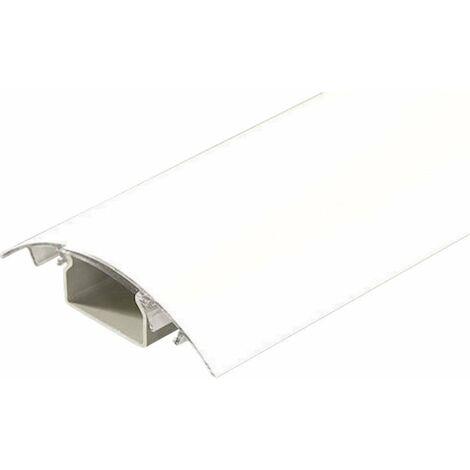 Protecteur de câble (L x l x h) 1000 x 80 x 20 mm blanc mat Contenu: 1 pc(s)