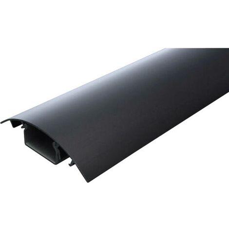 Protecteur de câble (L x l x h) 1000 x 80 x 20 mm noir (anodisé) Contenu: 1 pc(s)
