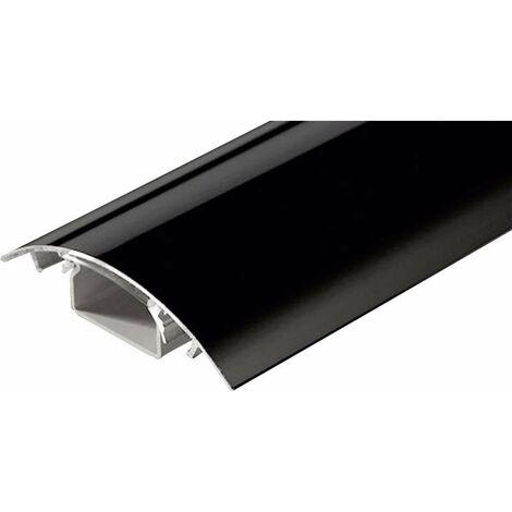 Protecteur de câble (L x l x h) 1000 x 80 x 20 mm noir (brillant) Contenu: 1 pc(s)
