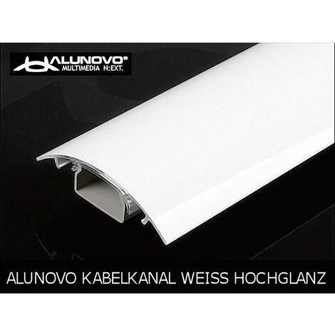 Protecteur de câble (L x l x h) 250 x 80 x 20 mm blanc (brillant) Contenu: 1 pc(s)