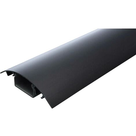Protecteur de câble (L x l x h) 500 x 80 x 20 mm noir (anodisé) Contenu: 1 pc(s)
