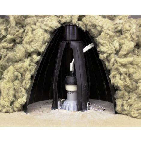 Protecteur de spot RAMSPOT LS pour la pose de spot dans un plafond isoléee avec de la laine soufflée carton de 5 pièces