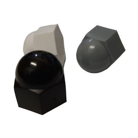 Protecting cap for hexagon bolts, screws and nuts Black Plastic Polyethylene
