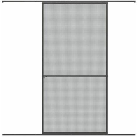 Protection contre les insectes WIP Porte coulissante Porte de protection contre les insectes en aluminium 120x240cm, anthracite