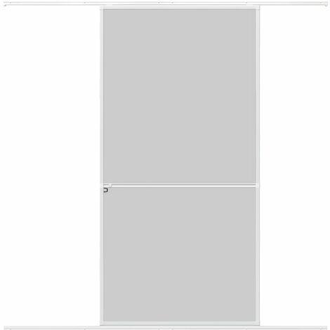 Protection contre les insectes WIP Porte coulissante Porte de protection contre les insectes en aluminium 120x240cm, blanc