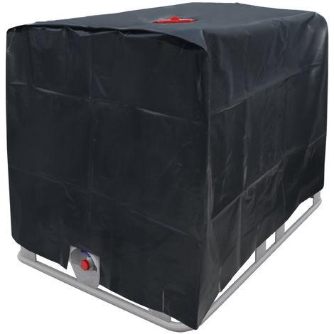 Protection de pluie noir capôt container IBC bâche réservoir citerne eau 1000 L