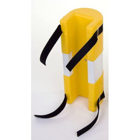 Protection de poteaux - en polyéthylène, jaune - pour largeur potelet 80 mm