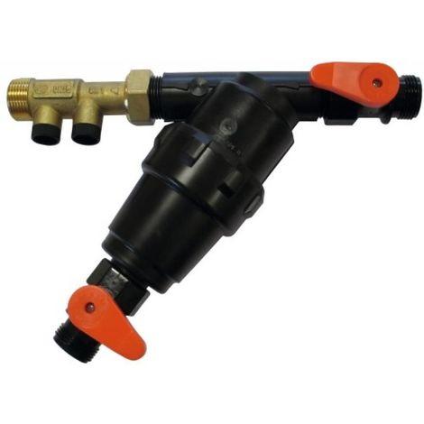Protection ECS avec filtre anti calcaire corrosion + clapet anti-retour 3/4 + Vanne