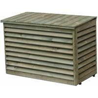Protection en bois pour groupe extérieur de climatisation - Dimensions internes : 950 x 700 x 500 mm