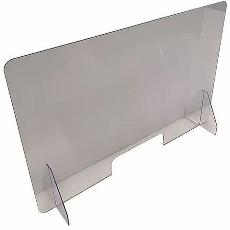 Protection plexiglass transparente avec pass document: 950 x 607 mm - Transparent