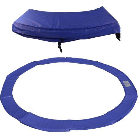 Protection ressorts pour trampoline - Couleur - Bleu, Diamètre - 180 cm
