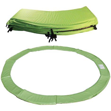Protection ressorts pour trampoline - Couleur - Vert, Diamètre - 244 cm