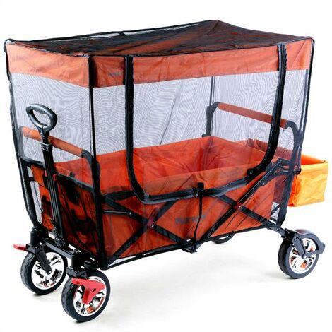 Protection solaire / moustiquaire pour le chariot de transport pliable JW-76C
