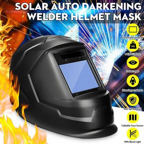 [Protection UV / IR] Masque de casque de soudage à assombrissement automatique solaire professionnel Machine de soudage de soudeur Arc Tig mig Meulage de soudeurs Masque de protection 4 Capteur d'arc de soudure