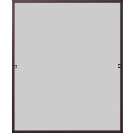 Protection WIP contre les insectes Fenêtre à châssis à partir de 130x150cm, marron
