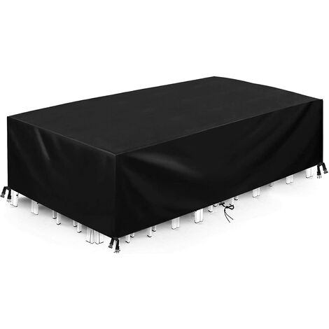 """main image of """"Protective Cover Furniture Cover Garden Furniture Cover Outdoor Table Cover Waterproof Tarpaulin Oxford Fabric, with Rope and Locking Buckle (210D, 350 x 260 x 90cm)"""""""