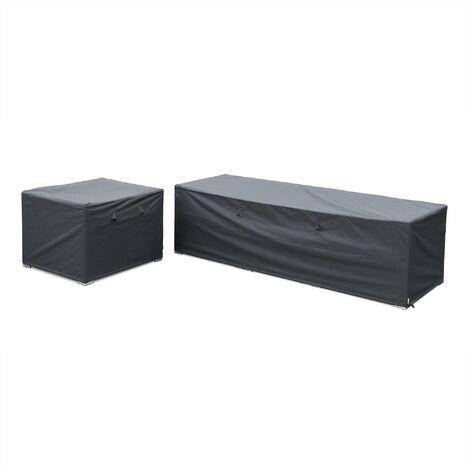 Protective covers for Caligari and Vinci garden sofa set, dark grey. Water-resistant