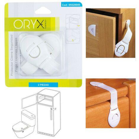 Protector cierre seguridad frigorífico / cajon (bister 2 piezas)