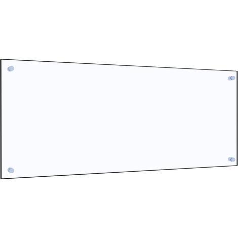 Protector contra salpicaduras cocina vidrio templado 100x40 cm