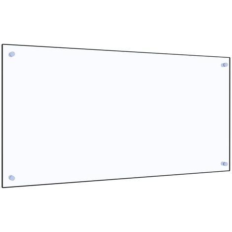 Protector contra salpicaduras cocina vidrio templado 100x50 cm