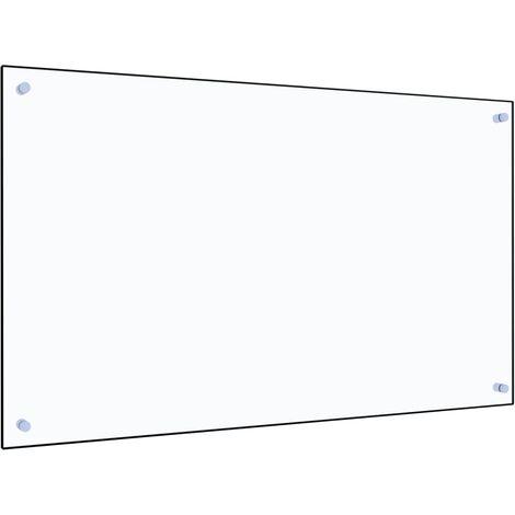 Protector contra salpicaduras cocina vidrio templado 100x60 cm