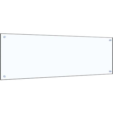 Protector contra salpicaduras cocina vidrio templado 120x40 cm