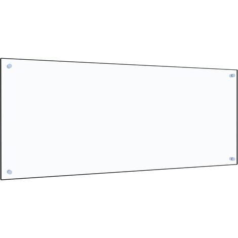 Protector contra salpicaduras cocina vidrio templado 120x50 cm