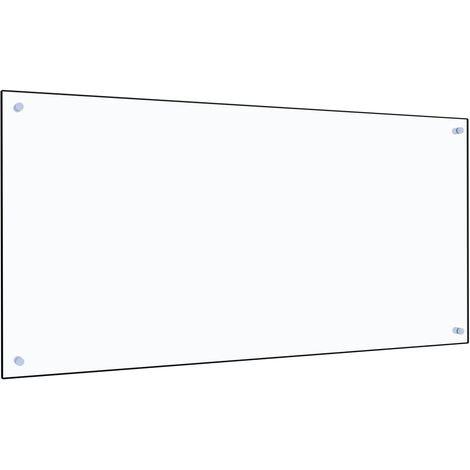 Protector contra salpicaduras cocina vidrio templado 120x60 cm