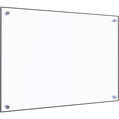 Protector contra salpicaduras cocina vidrio templado 70x50 cm