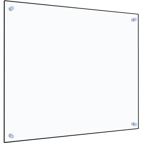 Protector contra salpicaduras cocina vidrio templado 70x60 cm
