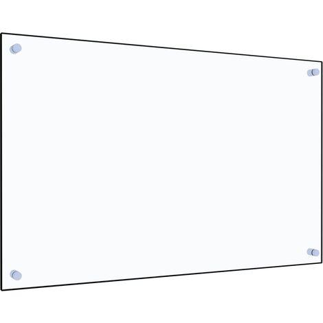 Protector contra salpicaduras cocina vidrio templado 80x50 cm