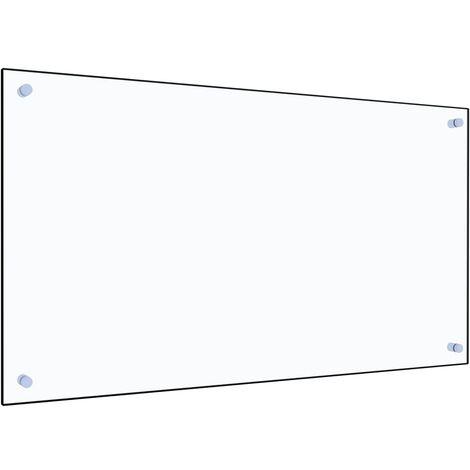 Protector contra salpicaduras cocina vidrio templado 90x50 cm