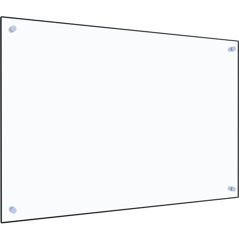Protector contra salpicaduras cocina vidrio templado 90x60 cm